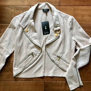 Forever 21 faux suede crop jacket